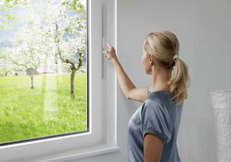Internorm i-tec ventilazione vmc integrata nella finestra