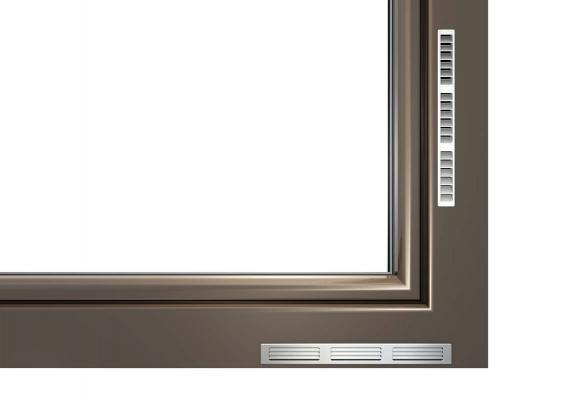 I-tec ventilazione vmc integrata nella finestra di Internorm