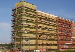 lavori sull'involucro di un edificio esistente