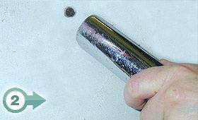 (2) Aspirazione polvere con tubo aspirapolvere