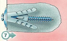 (7) Foro con impasto cemento