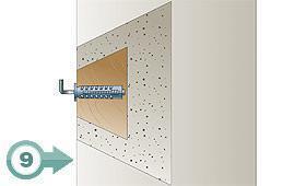 (9) Tassello in blocchetto di legno cementato