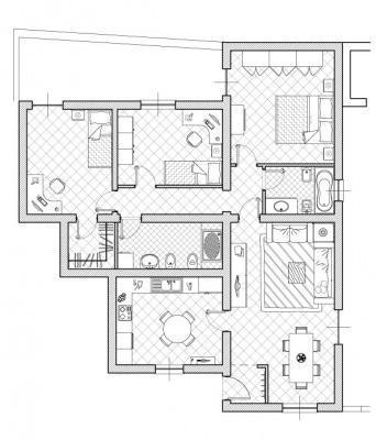 Progetto di ampliamento for Piani di casa con giardino interno