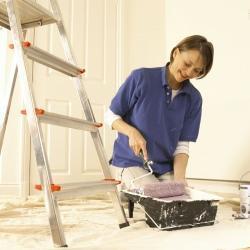 pitturazione a rullo di controsoffitti