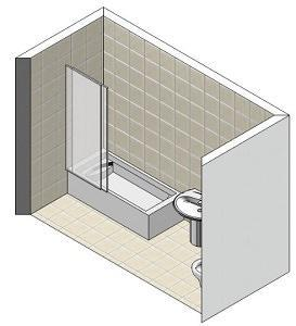 Vasca e doccia insieme: soluzione 1