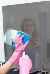 Pulizia dello specchio