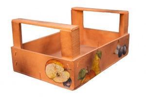 Cassetta della frutta decorata col Decoupage