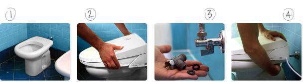 fasi di installazione wc bidet combinato Dobidos