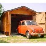 Garage in legno fai-da-te