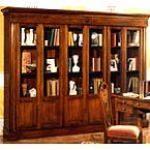 Libreria vetrina in arte povera