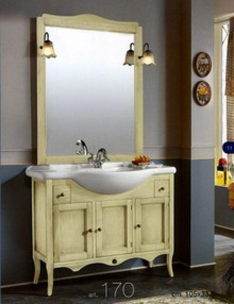 Prezzo arredo bagno con specchiera in arte povera for Arredo bagno arte povera prezzi