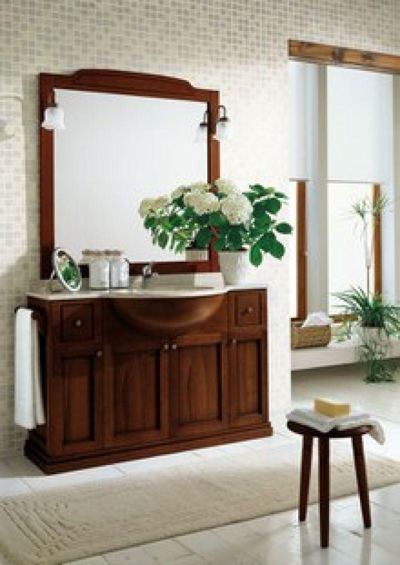 Prezzo arredo bagno con specchiera in arte povera - Mobili bagno arte povera ...