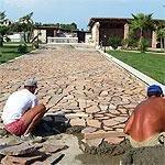 Fornitura lastricato in porfido, Marino di Roma