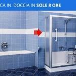 Trasformazione da vasca in doccia classica