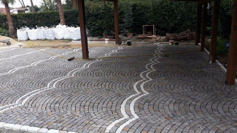 Fornitura e posa di pavimentazione porfido, Marino di Roma 3