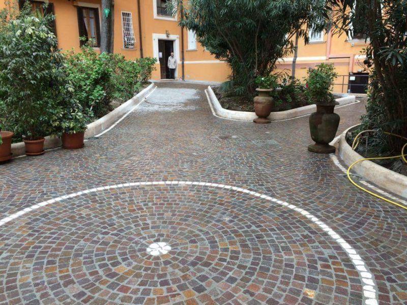 Fornitura e posa di pavimentazione porfido, Marino di Roma 4