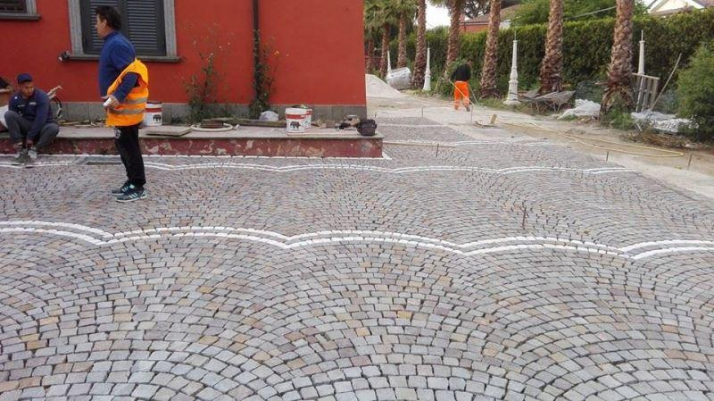 Fornitura e posa di pavimentazione porfido, Marino di Roma 5