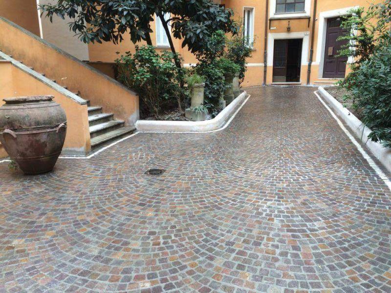 Fornitura e posa di pavimentazione porfido, Marino di Roma 6