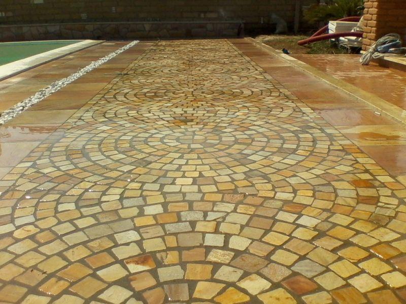Pavimentazione quarzite brasiliana Marino di Roma 3