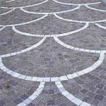 Pavimentazione a coda di pavone, Marino di Roma