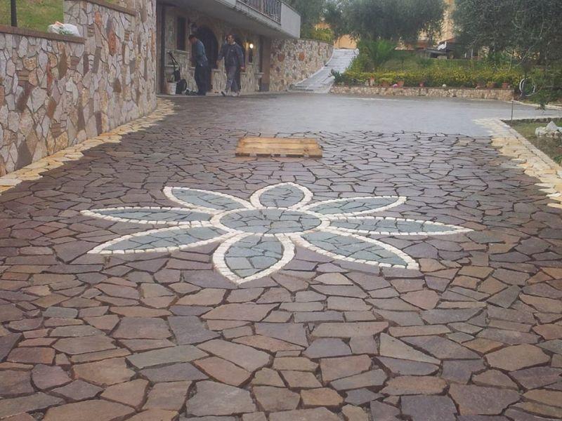 Pavimentazione palladiana mosaico Marino di Roma 1