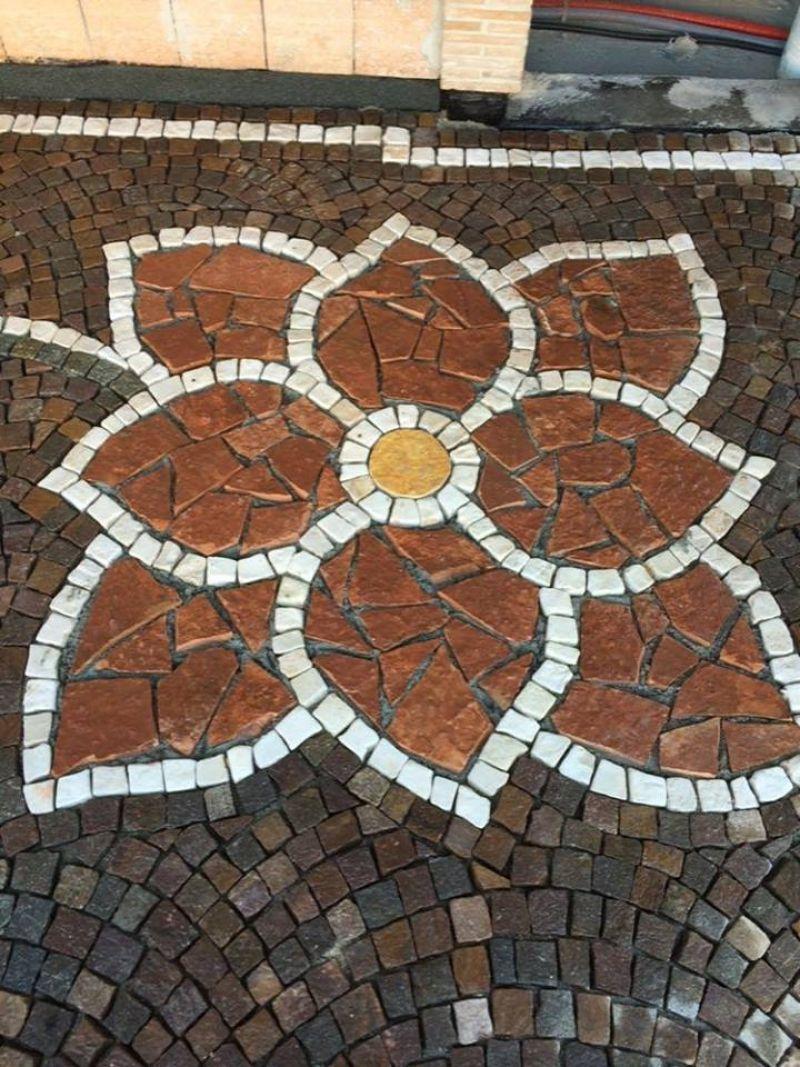 Pavimentazione palladiana mosaico Marino di Roma 3