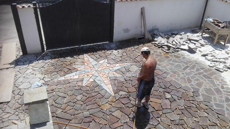 Pavimentazione palladiana mosaico Marino di Roma 5