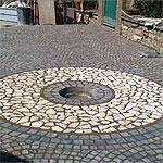Pavimentazione palladiana mosaico Marino di Roma