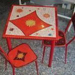 Tavolo mosaico artigianale