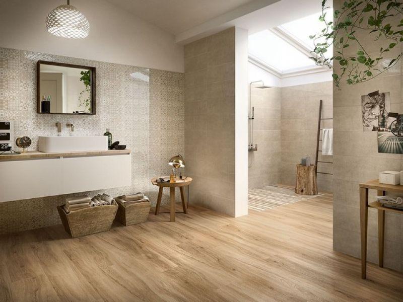 Prezzo pavimento in pvc a click finitura legno dorato - Iperceramica pavimenti bagno ...