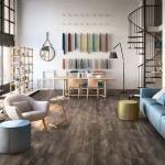 Pavimento in pvc a click finitura legno nero