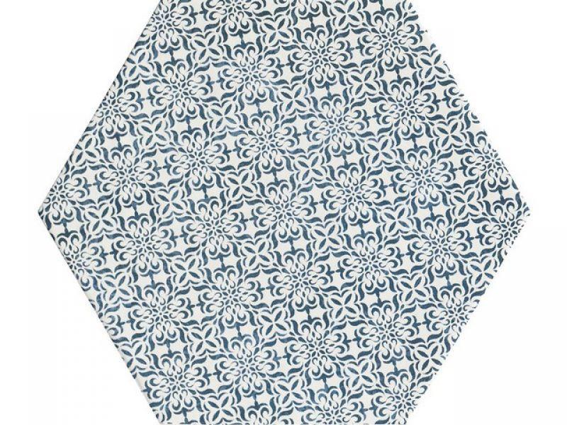 Gres porcellanato esagonale stile maiolica Oltremare 1
