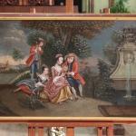 Antico dipinto veneziano paesaggio romantico del xix