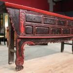 Antica console orientale laccata del xix secolo