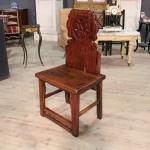 Sedia cinese in legno scolpito del xx