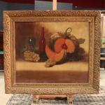 Coppia di dipinti francesi nature morte della