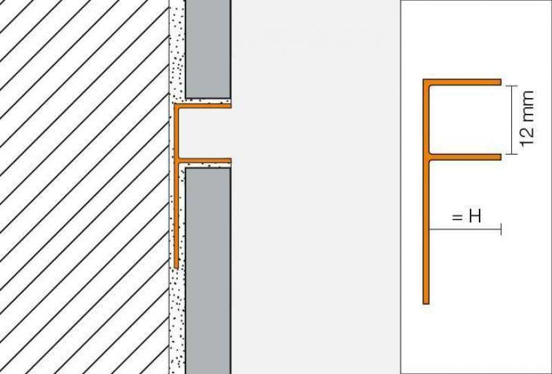 Profilo per alloggiamento vetro Schluter-DECO-SG 5