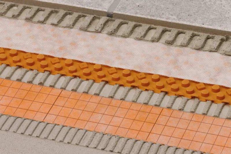 Sistema di guaina drenante Schluter-DITRA-DRAIN 1