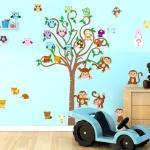 Albero per bambini con animali (bicolore)