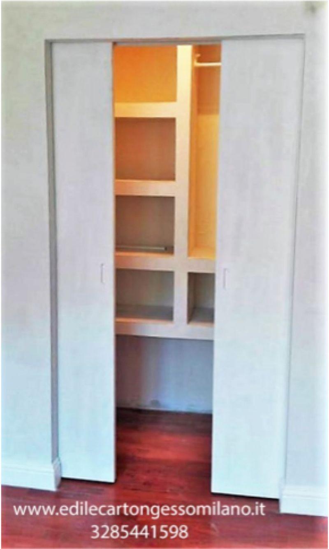 Cabina armadio in cartongesso Milano Lodi Crema e dintorni 2