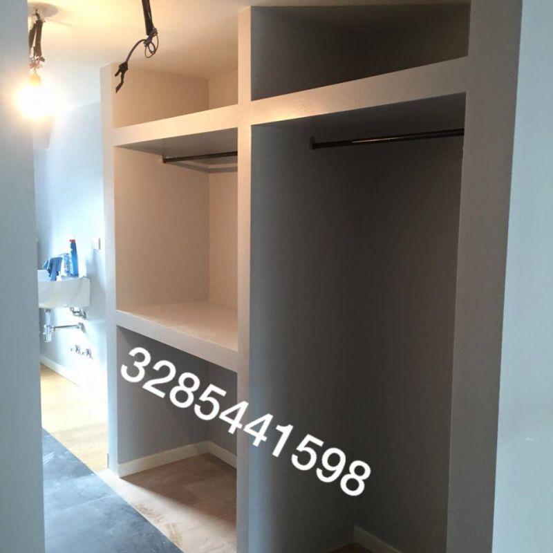 Cabina armadio in cartongesso Milano Lodi Crema e dintorni 4