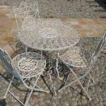 Tavolino rotondo in ferro battuto Alessandria