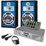Set completo dj altoparlanti mixer