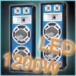 2 casse acustiche diffusori luce