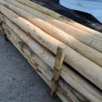 Pali scortecciati in legno castagno garanzia 25