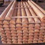 Mezzi pali in legno larice garanzia 25