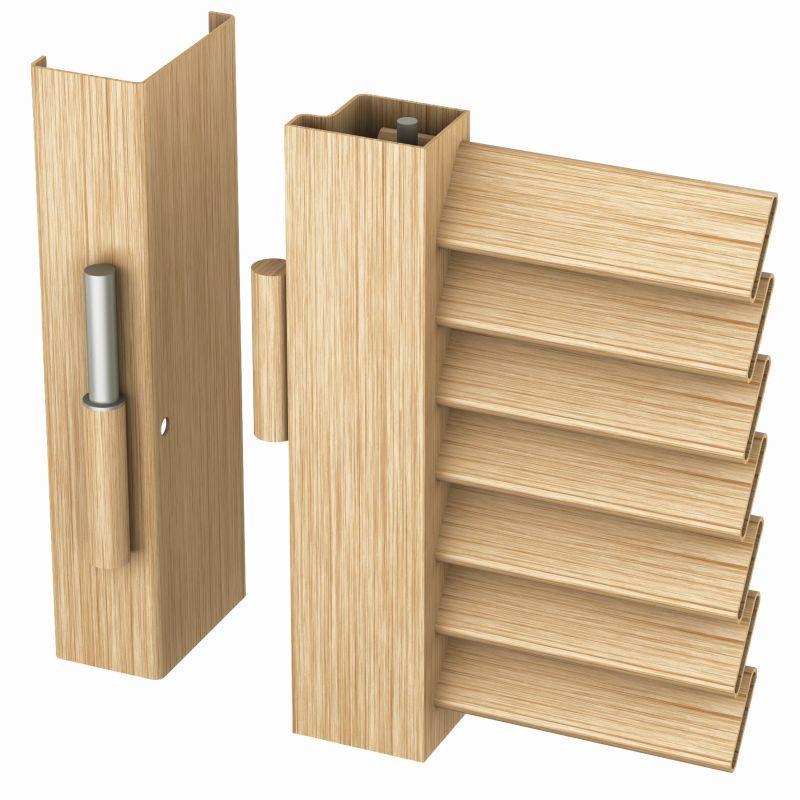 Persiana blindata effetto legno 1