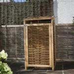 Porta bidoni da esterno in legno di