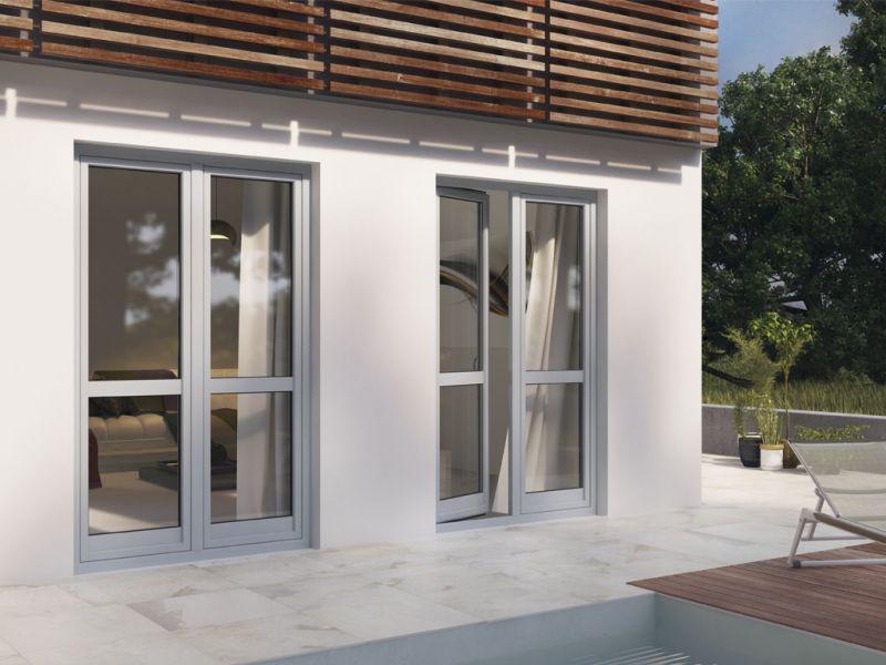 Prezzo finestra alluminio legno trial 90q prezzo for Prezzo infissi legno