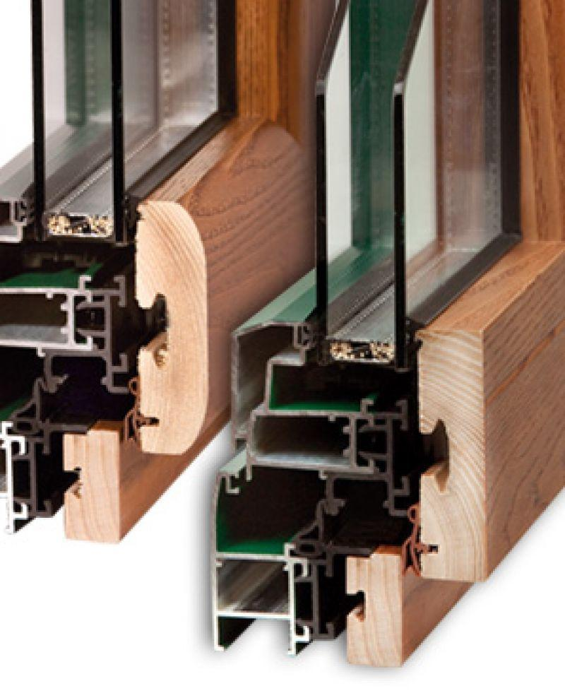 Finestra alluminio legno trial q 1